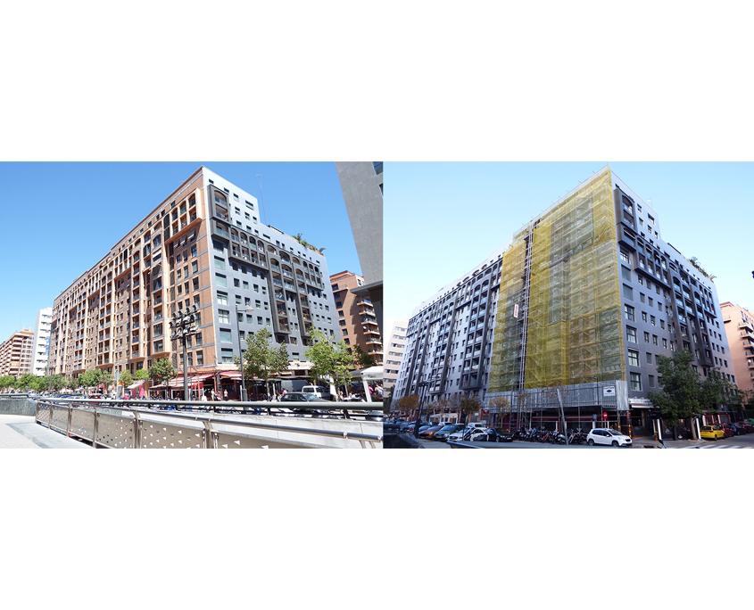 Rehabilitacion fachada calle Trafalgar - Front panel