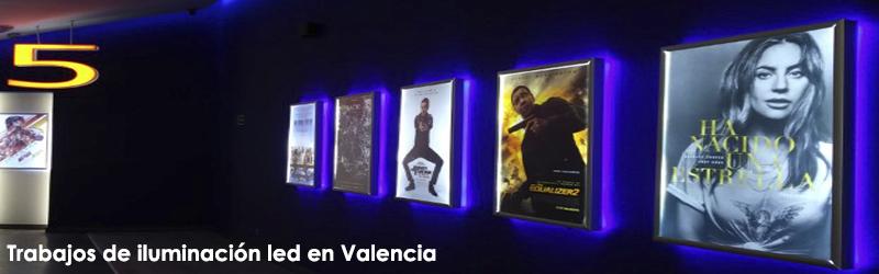 Trabajos de iluminación led Valencia